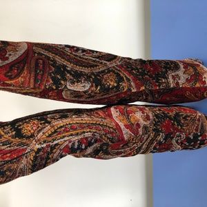 diba knee boots embrodered   spike heels size 6.5